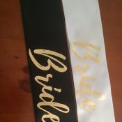 Personalised Printed Sashes